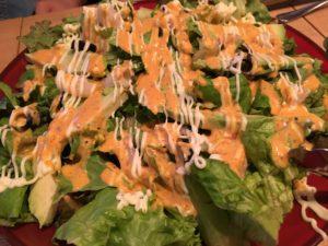 海老とアボカドのコブサラダ