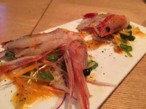 甘海老と鮮魚のカルパッチョ