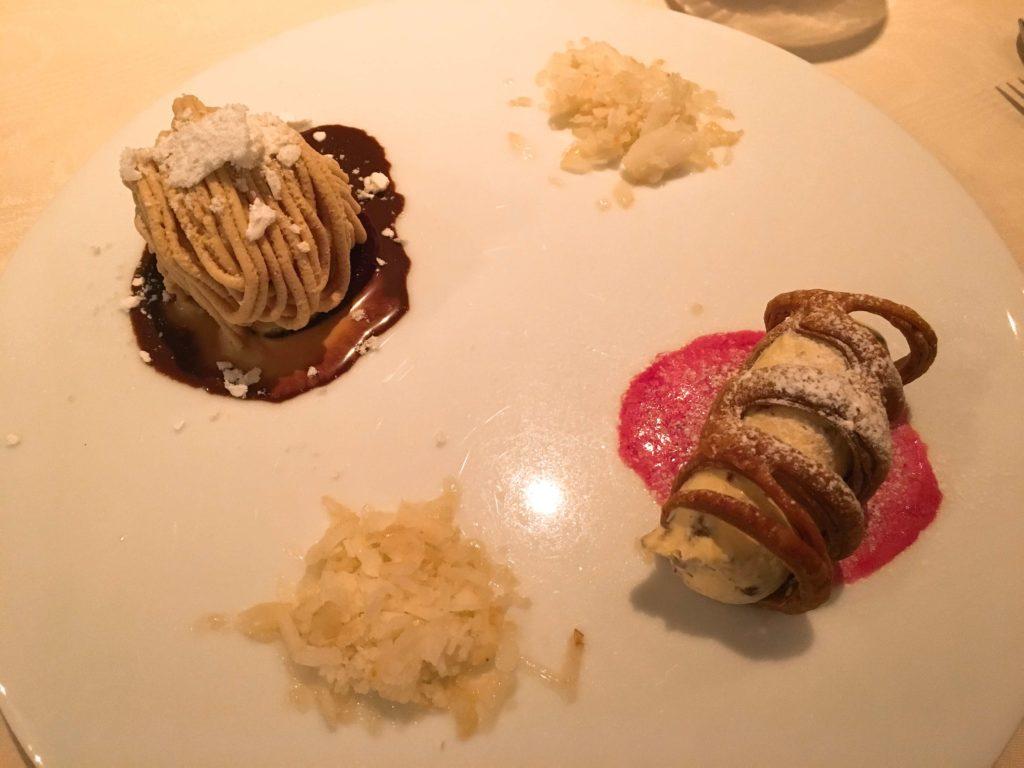 マロンクリームとカラメルアイス