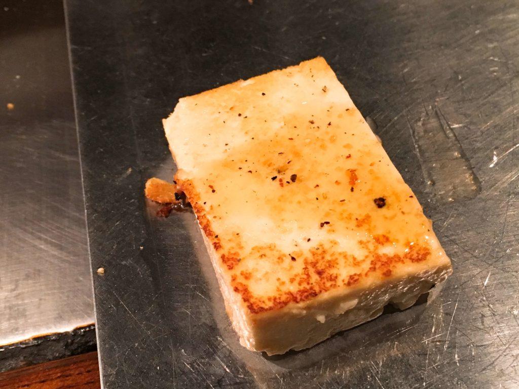島豆腐の鉄板焼き