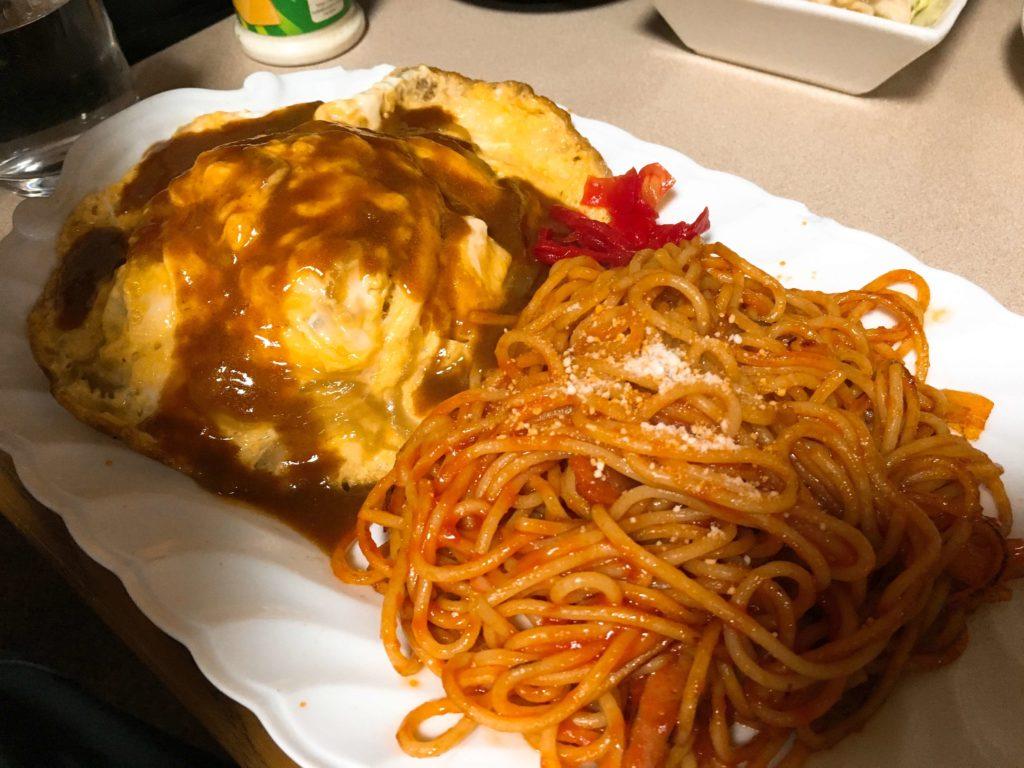 オムライス+ナポリタン定食