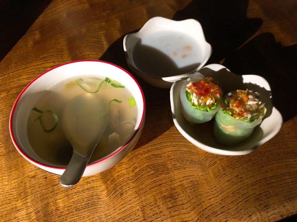 生春巻き・スープ・デザート
