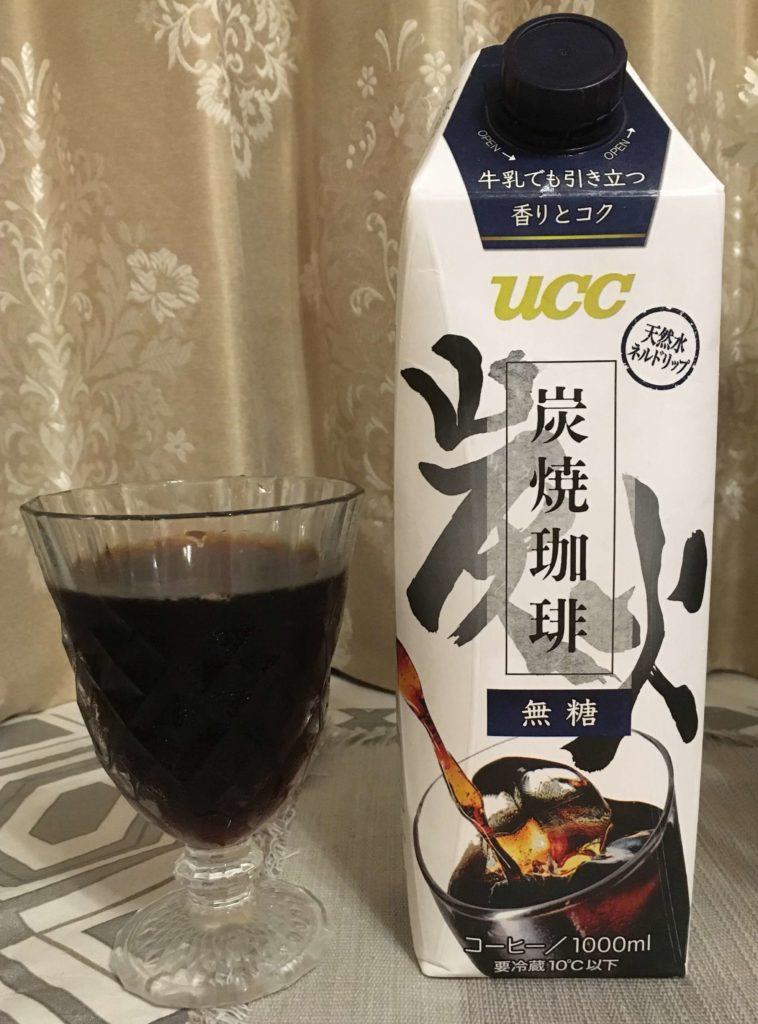 【UCC】炭焼珈琲 無糖